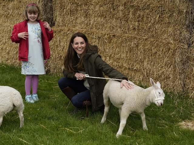 The Duke and Duchess of Cambridge visited Manor Farm in the village of Little Stainton, near Darlington.