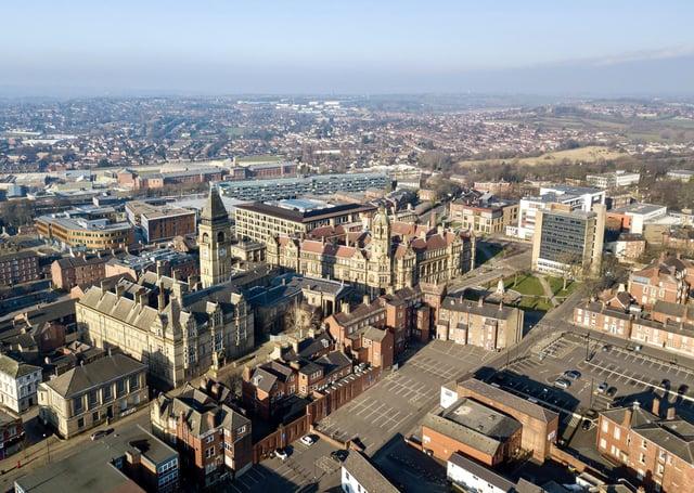 An aerial view of Wakefield. Picture Scott Merrylees.