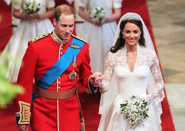 The Duke and Duchess of Cambridge on their wedding day on April 29, 2011.
