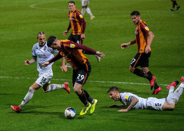 Andy Cook leaves Ashley Eastman on the deck as Oscar Threlkeld closes in.  Picture Bruce Rollinson