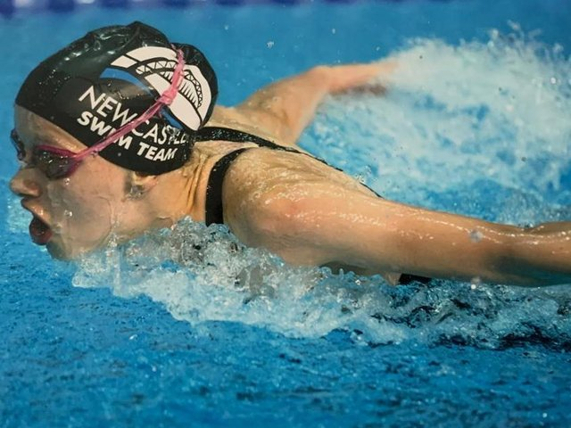 Christa Wilson, 17, a sixth form student from Ripon Grammar School and star swimmer, will be heading to Grand Canyon University in Arizona. Photo credit: Submitted picture.