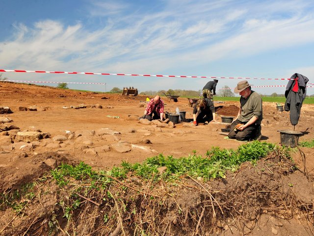 The dig site in Scotton
