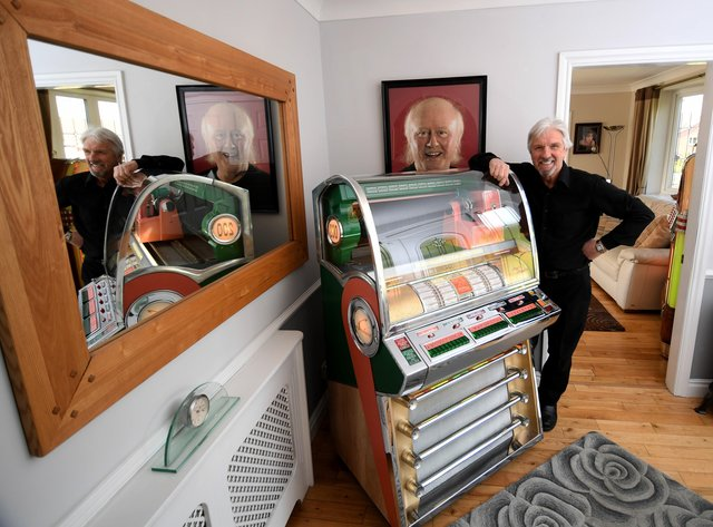 Grumbleweed Robin Colvill has renovated a selection of jukeboxes, pinball tables and other classic machines at his home. Picture by Simon Hulme