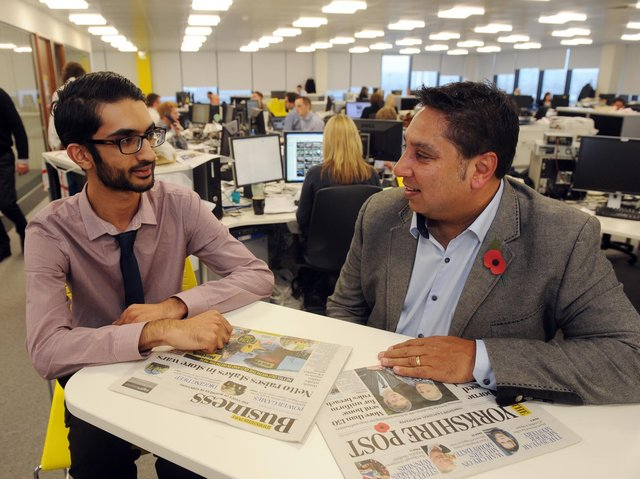 Yorkshire Post business reporter Ismail Mulla interviews Gurdev Singh from The Printing Charity