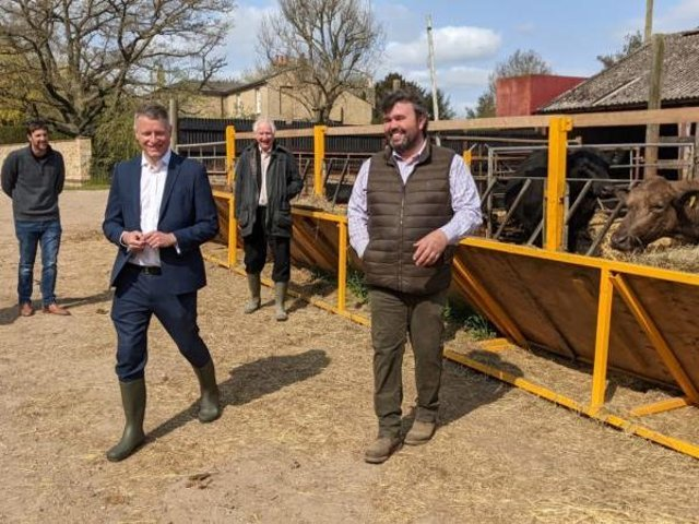 Luke Pollard launches Labour's rural policy review in Cambridgeshire. Photo: Luke Pollard