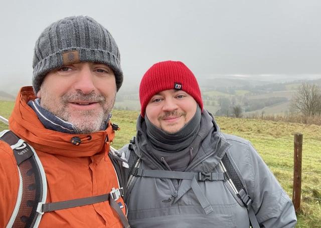 Matt and Adam Robinson who are walking Coast to Coast for Bradford Neonatal Unit