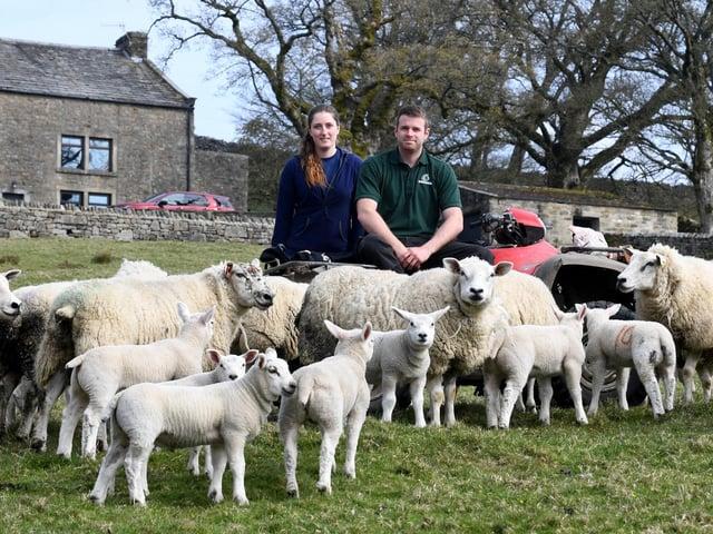 Owain and Jenny farm sheep at Hebden