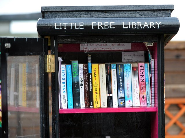 Generic picture of a 'little free library' box