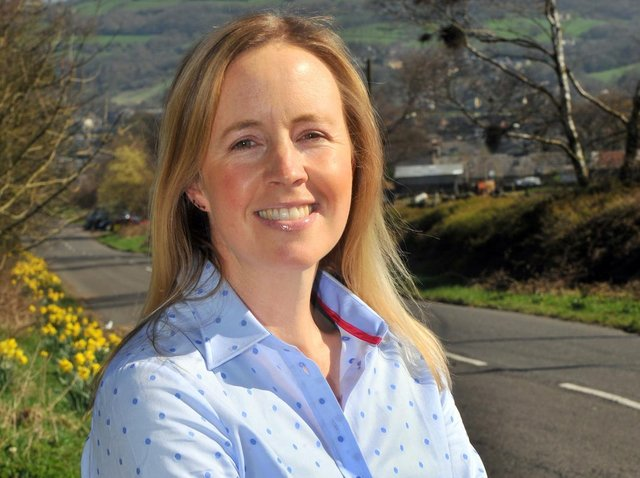 Jill Thorp watches the fire rage across the moor