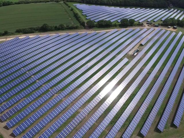 Coca-Cola's solar farm at Wakefield.
