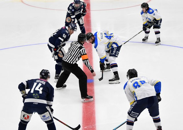 WE'LL MEET AGAIN: Leeds and Sheffield Steeldogs hope to be able to face off against each other again from September onwards. Picture: Jonathan Gawthorpe.
