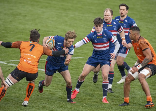 STICKING AROUND: Doncaster Knights' Sam Olver. Picture Tony Johnson