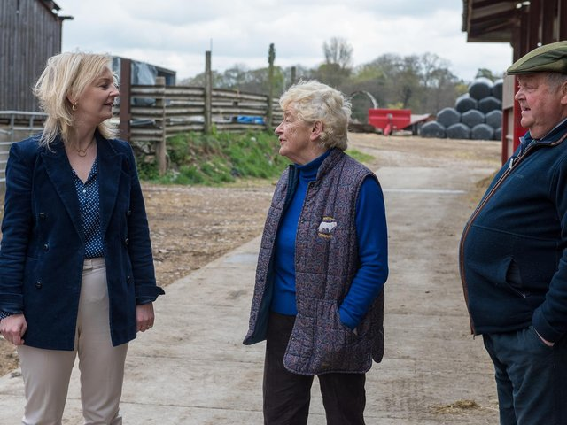 Ms Truss was discussing the export opportunities opening up for British beef during her visit to North Yorkshire.