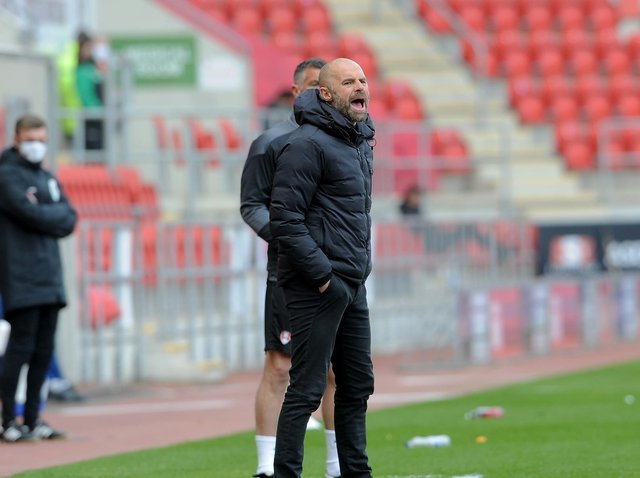 Rotherham United manager Paul Warne, pictured on the touchline in his side's home game with Blackburn Rovers. Picture: Simon Hulme.