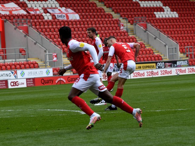 Rotherham United loanee Lewis Wing fired home a precious equaliser against Blackburn. Picture: Simon Hulme.