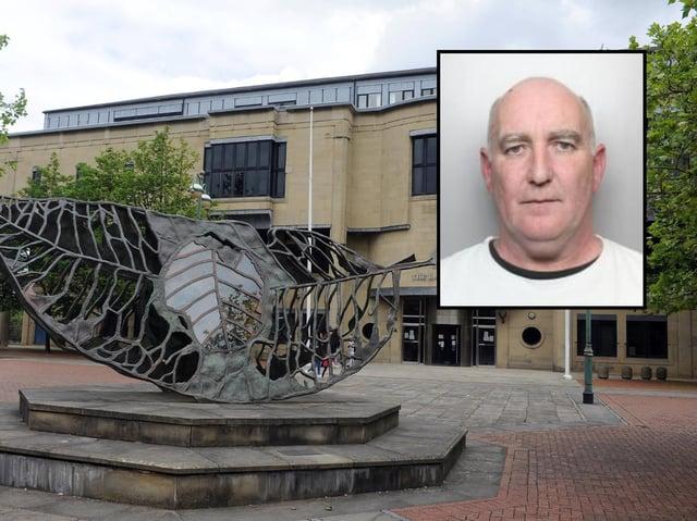 Colin Nesbitt (inset) was jailed at Bradford Crown Court