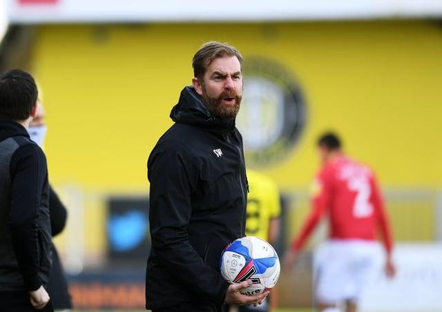 SAM AGAIN PLEASE: Harrogate Town manager Simon Weaver. Picture : Jonathan Gawthorpe.