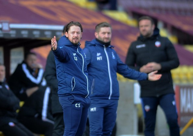 Missed chances: Bradford joint manager Conor Sellars, left. Picture by Simon Hulme
