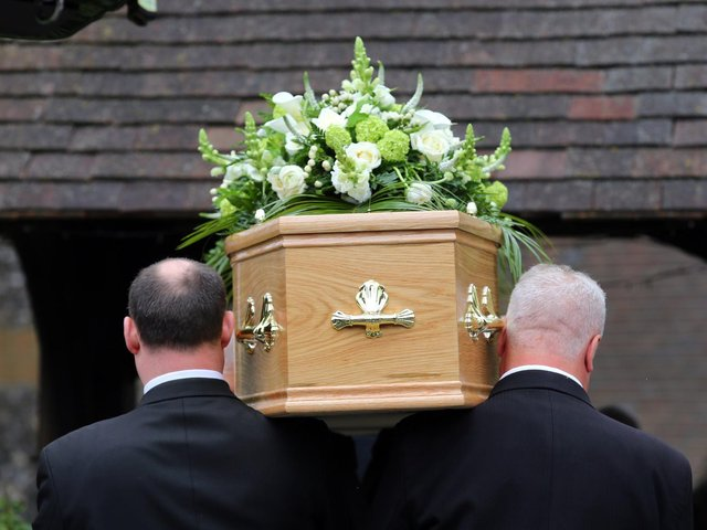 The limit on the number of mourners who can attend funerals is to be lifted in England, the Government has announced. PIC: PA