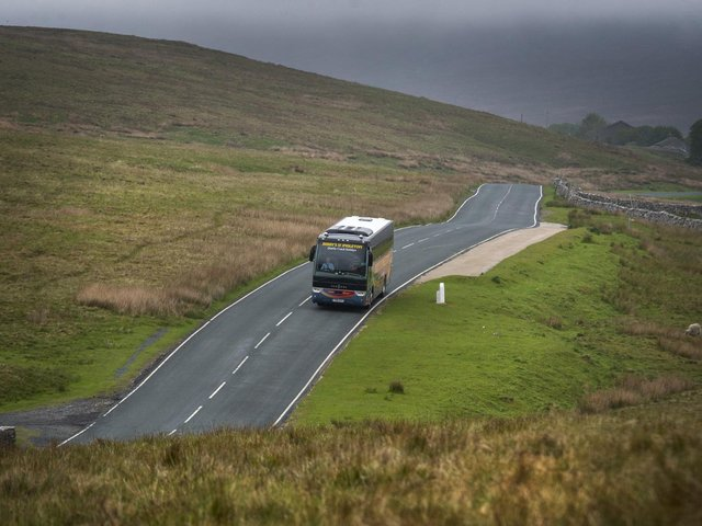 Coach company Bibby's of Ingleton, pictured at Ribblehead Viaduct in the Yorkshire Dales National Park, which lost thousands last year during the pandemic