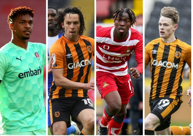YOU'RE IN: Jamal Blackman, left, George Honeyman, Taylor Richards and Keane Lewis-Potter - but who joins them?