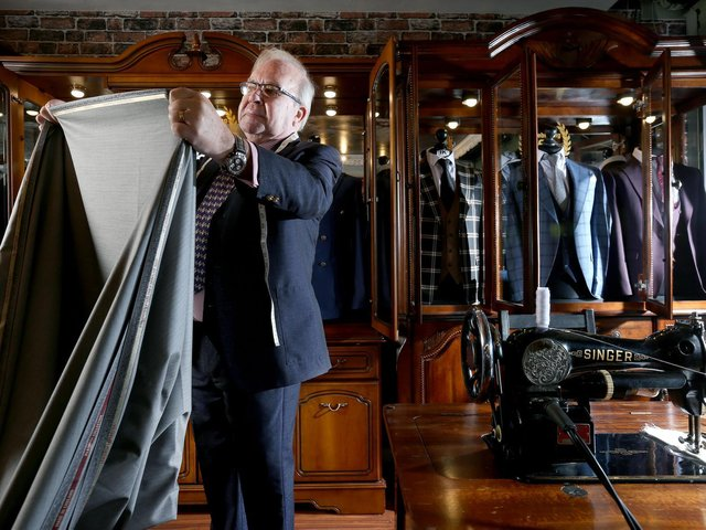 Master of tailoring Ray Lister