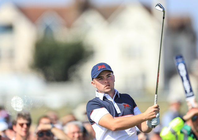 Alex Fitzpatrick: Playing in his first Walker Cup two years ago at Royal Liverpool. (Picture: Getty Images)
