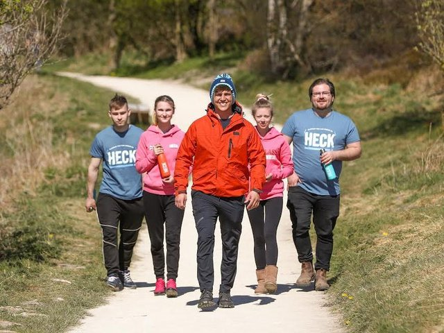 The campaign is spearheaded by the company's marketing manager, Jack Tate (centre)