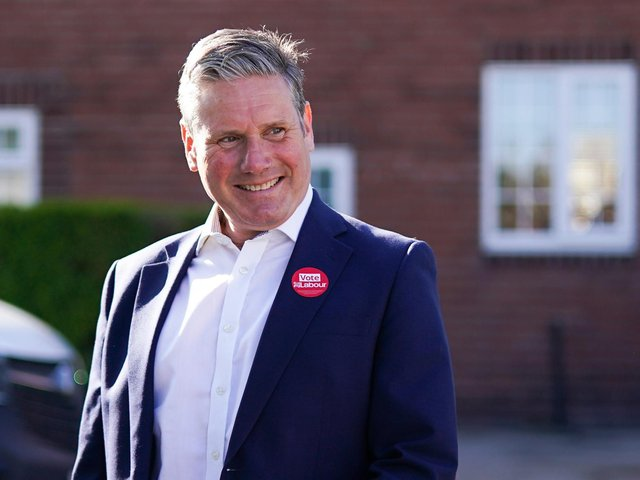 Labour leader Sir Keir Starmer visits St Mary's Community Centre in Pontefract, West Yorkshire, to meet with community workers and ex-miners during campaigning for the election for West Yorkshire mayor. Photo: PA