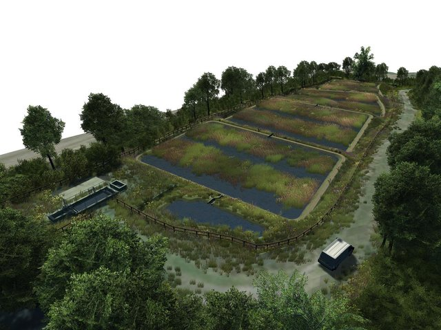 An artist's impression of the wetland site.