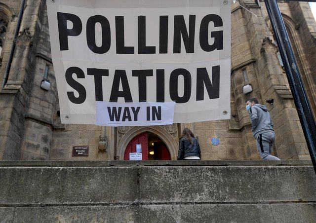 A polling station in Leeds last Thursday but should the voting age be lowered to 16?