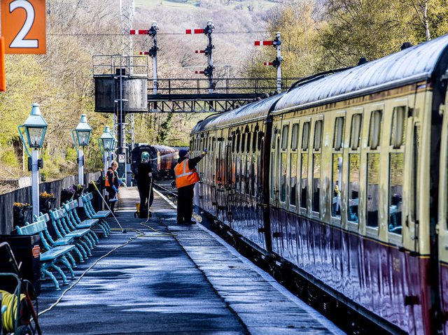 Preparation for the reopening of North Yorkshire Moors Railway is in full swing. (Credit: Charlotte Graham)