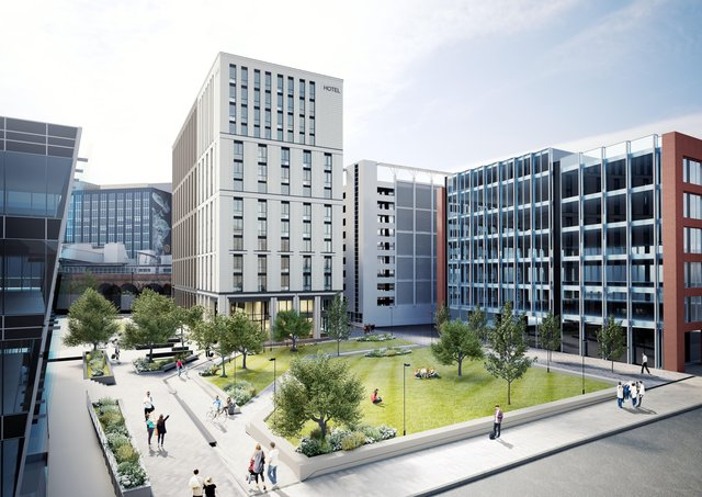 CGI of new hotel proposed for Sovereign Square in Leeds. Picture: DLA Architecture