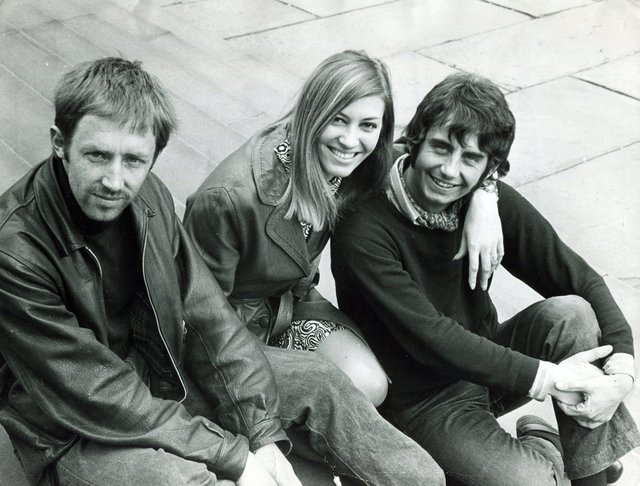 Myra Frances with fellow Sheffield Playhouse members Christopher Wilkinson (left) and Barrie Smith, in June 1968