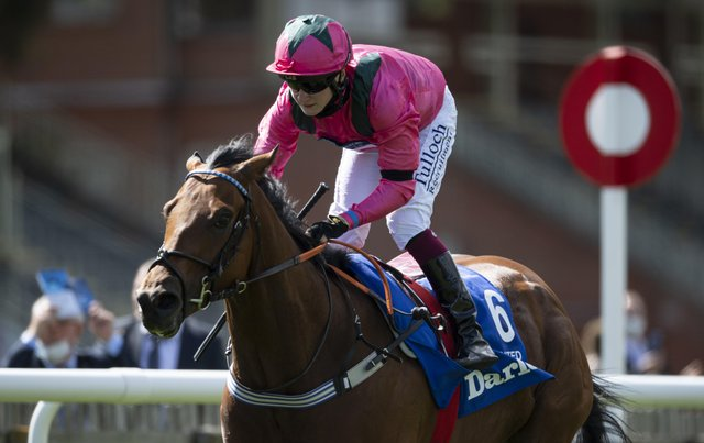 This was Oxted winning last summer's Darley July Cup under Cieren Fallon junior. The horse could line up at York next week.