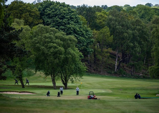 Golfers at Headingley Golf Club, Leeds. (Picture: James Hardisty)