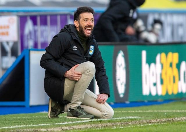 Huddersfield Town boss Carlos Corberan.  Picture Bruce Rollinson