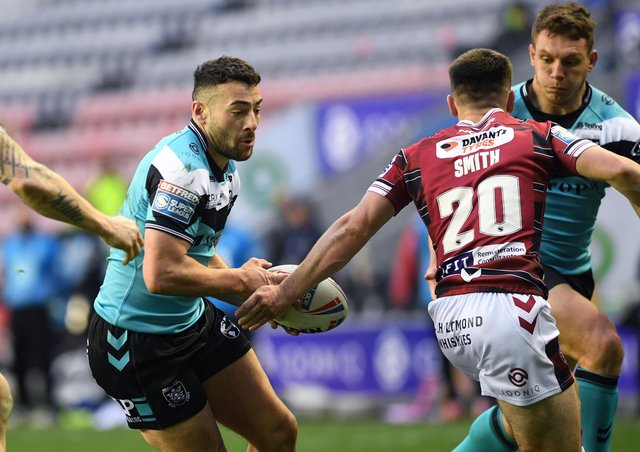 Banned: Hull's Jake O'Connor is out of the Challenge Cup quarter-final against Wigan after being banned following an incident in the league match between the sides last weekend. Picture: Jonathan Gawthorpe