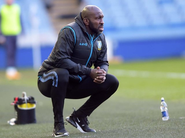 RETURN: Sheffield Wednesday manager Darren Moore has been at the club's training ground this week
