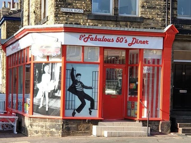 The Fabulous 50's Diner in Harrogate town centre.