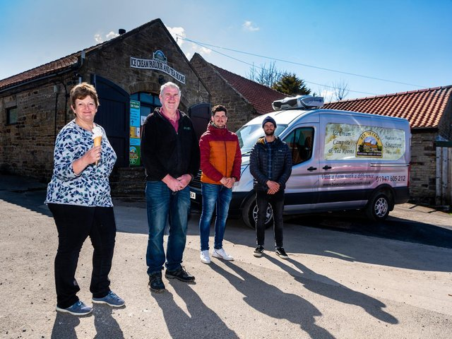 Mike, Zoe, Chris and Matt all run the farm's businesses together
