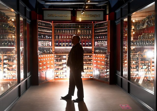 Chief executive Nat Edwards in the Apothecary Room. Picture by Simon Hulme
