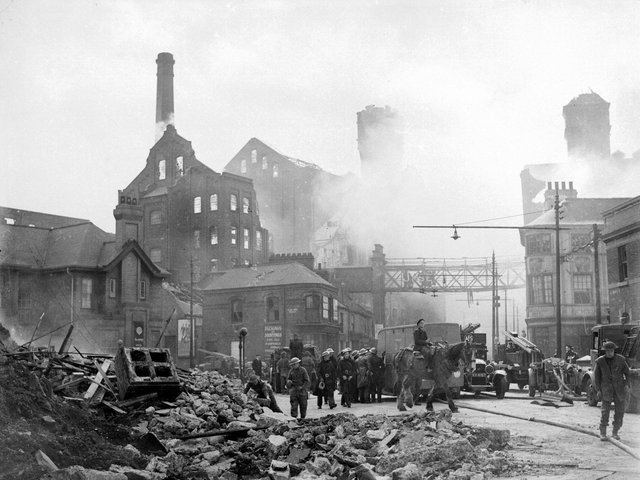 Ranks flour mill in Hull which was destroyed during the May raids in 1941.(Picture: YPN).