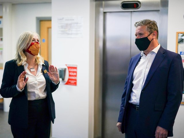 Tracy Brabin pictured with Labour leader Sir Keir Starmer. Pic: PA