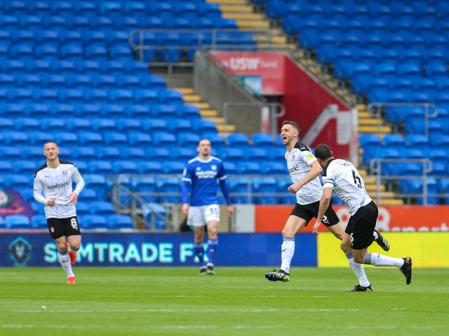 Action from Rotherham United's final-day game at Cardiff City. Picture: Getty Images.