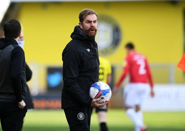 Harrogate's manager Simon Weaver. Picture: Jonathan Gawthorpe