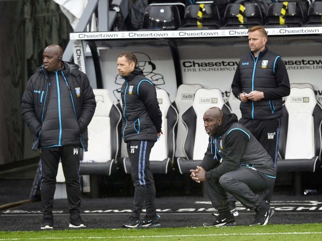 RELEGATED: But Darren Moore took comfort from Sheffield Wednesday's efforts