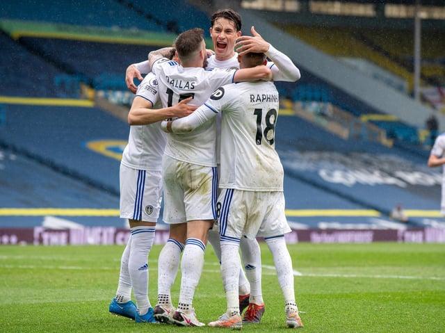 VICTORY: Leeds United 3-1 Tottenham Hotspur. Picture: Bruce Rollinson.