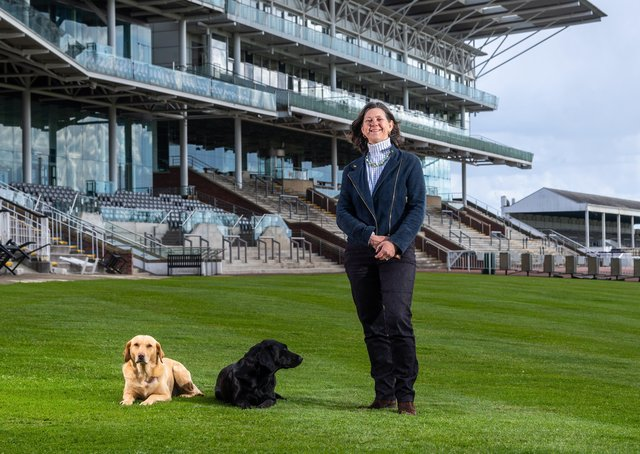 Bridget Guerin is the first ever female chairman of York Racecourse ahead of the season-opening Dante meeting. Photo: James Hardisty.