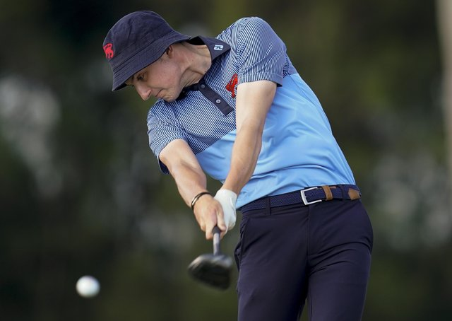Driving force: Yorkshire's Barclay Brown in Walker Cup action.